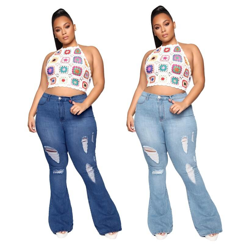Plus Size Flare Jeans Tall - main picture