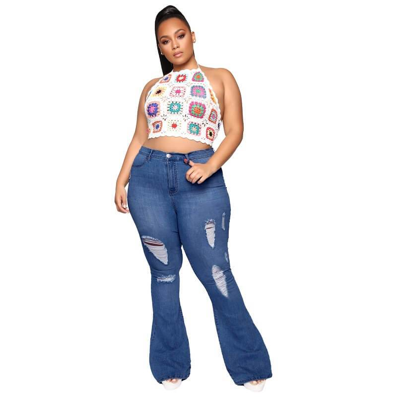 Plus Size Flare Jeans Tall - dark blue positive