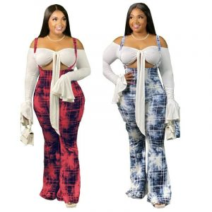 Plus Size High Waisted Flare Jeans - main picture