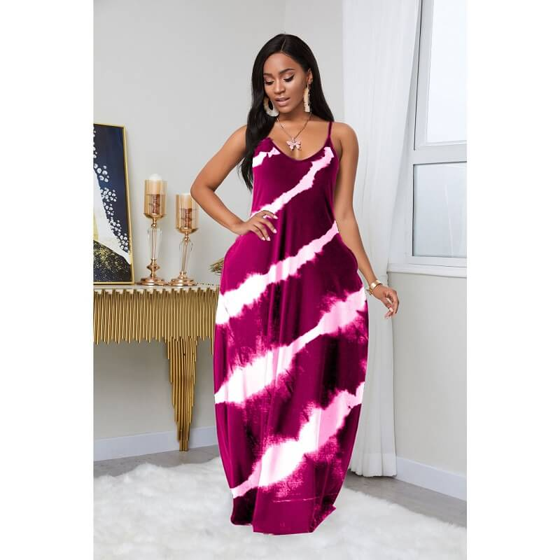 plus size summer dresses - wind red color