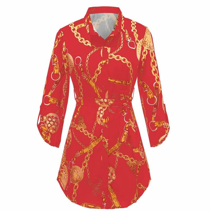 Green Blouse Plus Size - red color