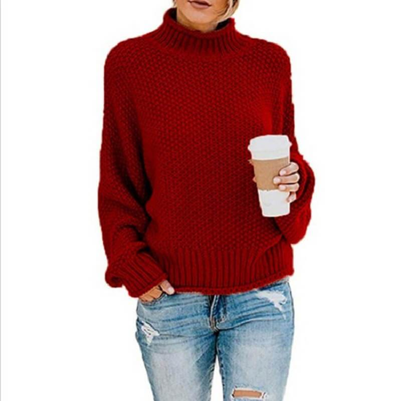 Ugly Sweater Plus Size - wine red color