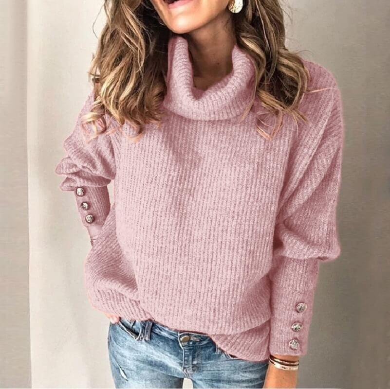 Plus Size Sweater - pink color