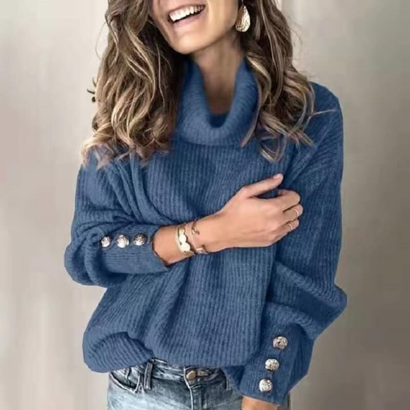 Plus Size Sweater - blue color