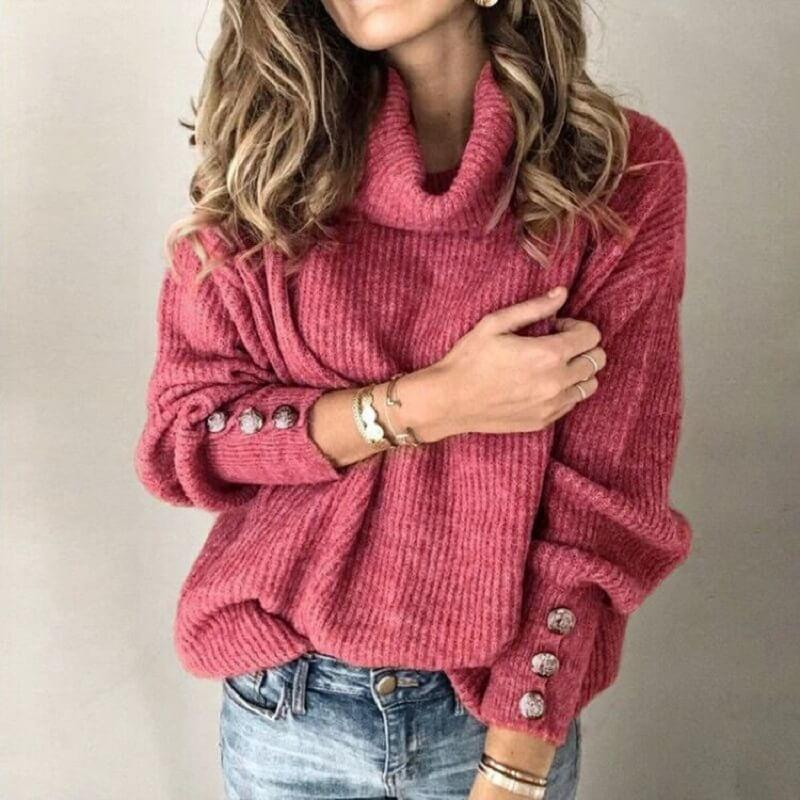 Plus Size Sweater - brick color