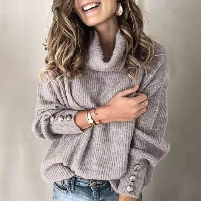 Plus Size Sweater Dress - gray color