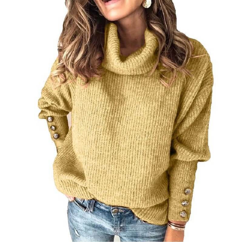 Plus Size Sweater - yellow color