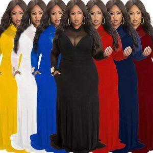 Plus Size Velvet Dress - colors