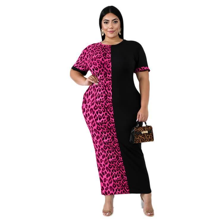 Slim Dress Plus Size Formal Dresses & Gowns - rose red color