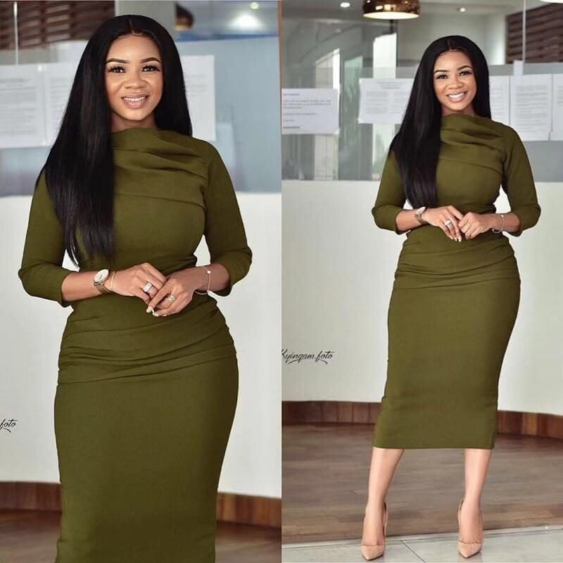 Plus Size Green Long Dresses - green main picture