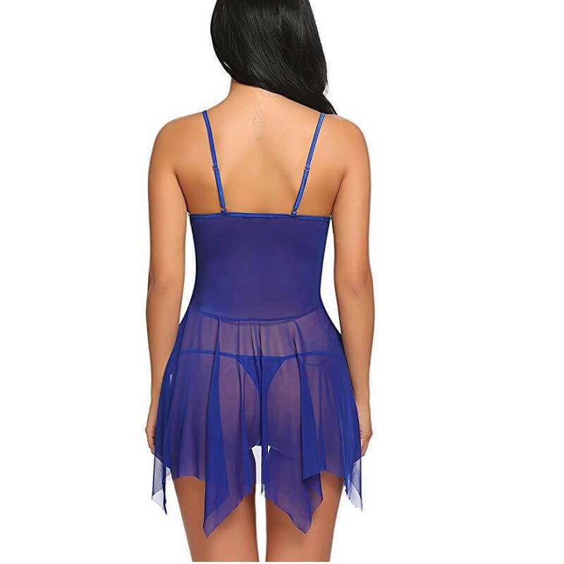 Plus Size Lingerie Wholesale - blue back