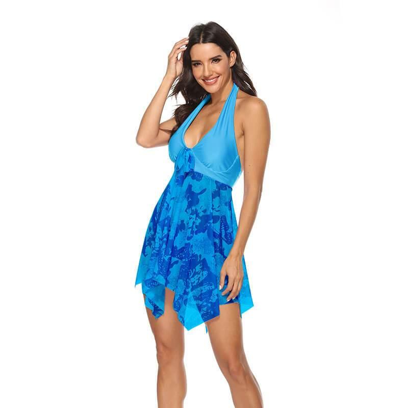 Light Blue Plus Size Dress - blue color