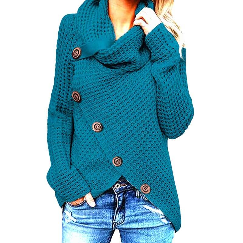 Plus Size Distressed Sweater - kong quelan color