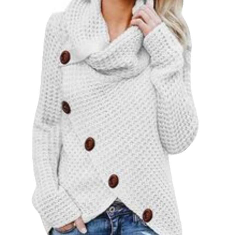 Plus Size Distressed Sweater - beige color