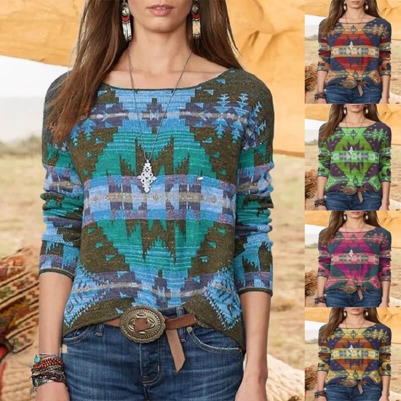 Plus Size Fair Isle Sweater - main picture