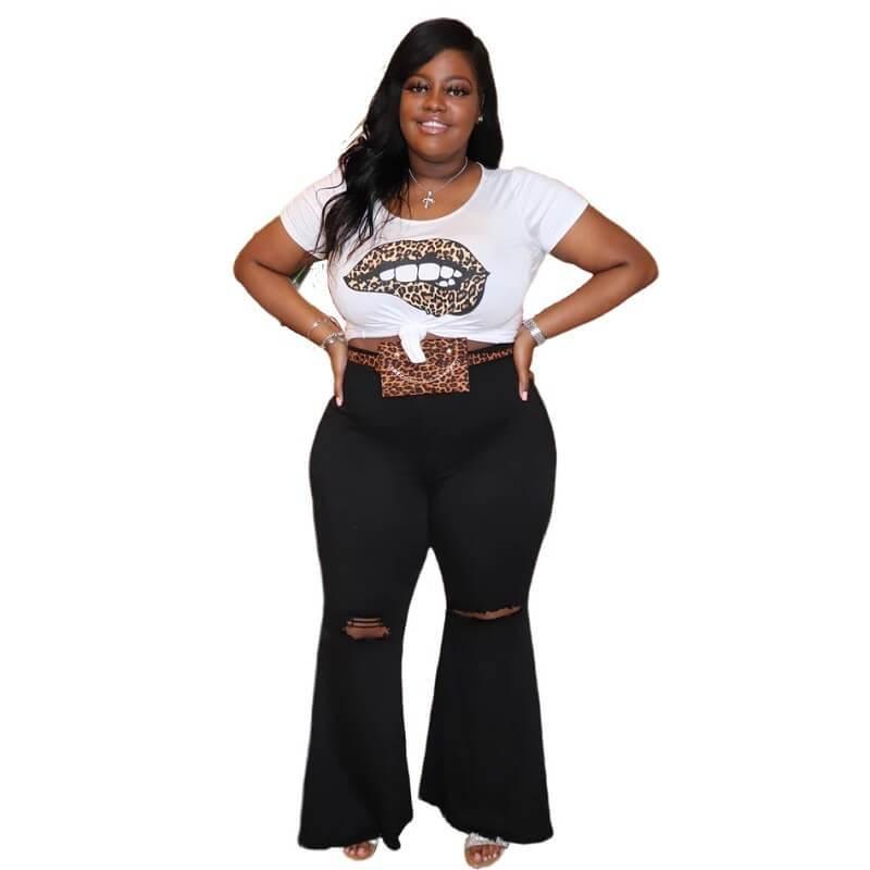 plus-size-jeans-wholesale - black  color