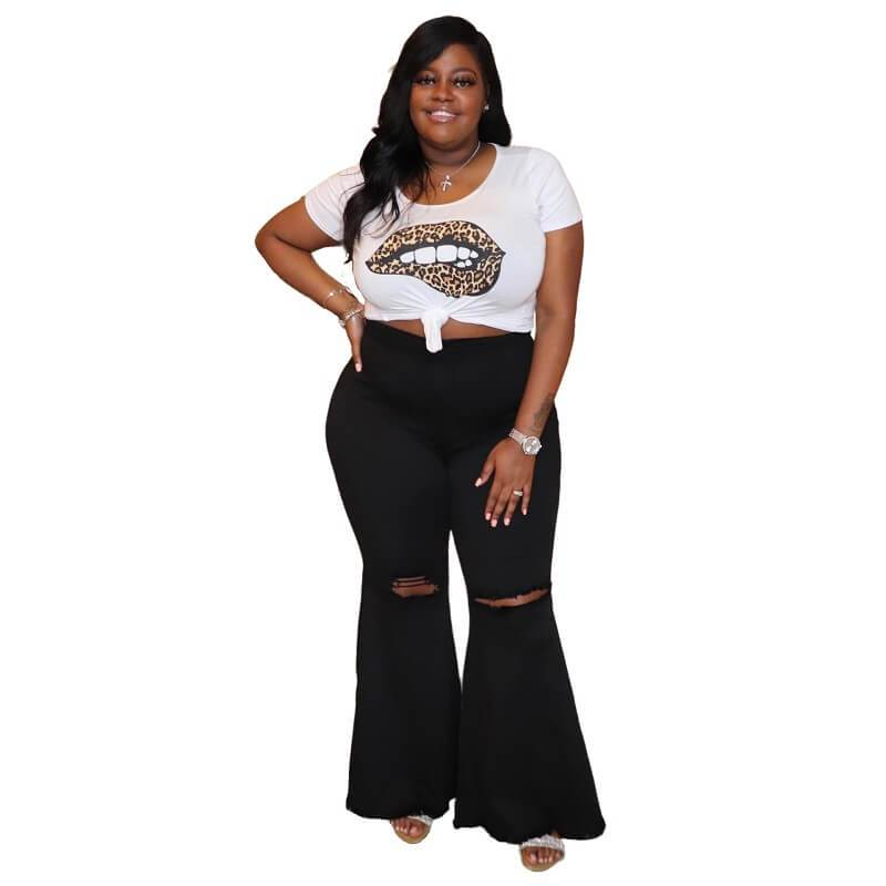 plus-size-jeans-wholesale - black  positive