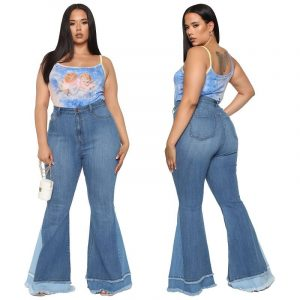 Stretch Flare Jeans Plus Size - main picture