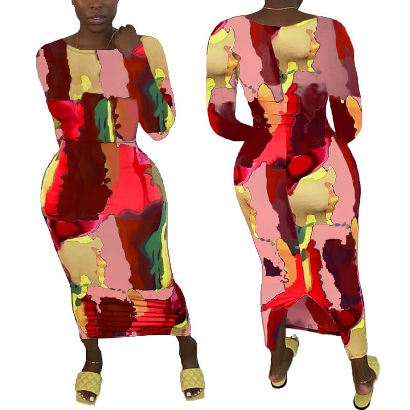 Plus Size Going Out Dresses - red color