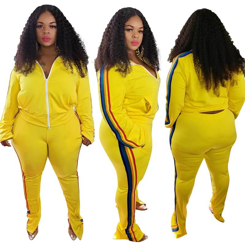 Plus Size Large Sports Package - yellow color