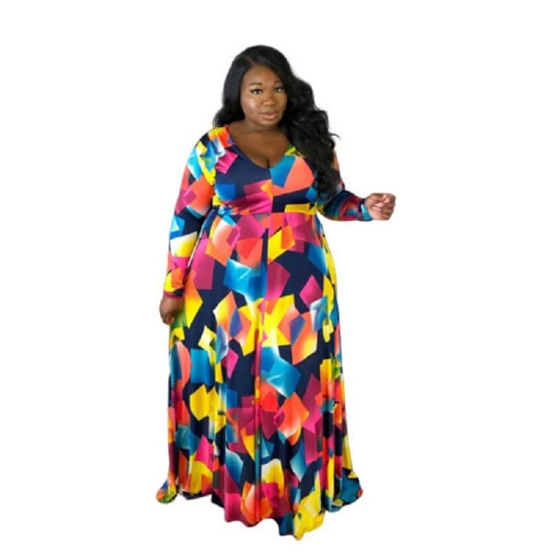 Trendy Plus Size Cocktail Dresses -  multicolor color