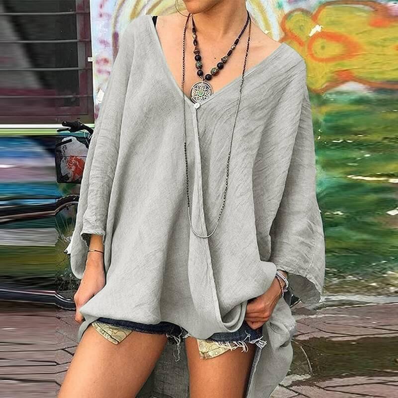 Plus Size Crop T Shirt - gray color