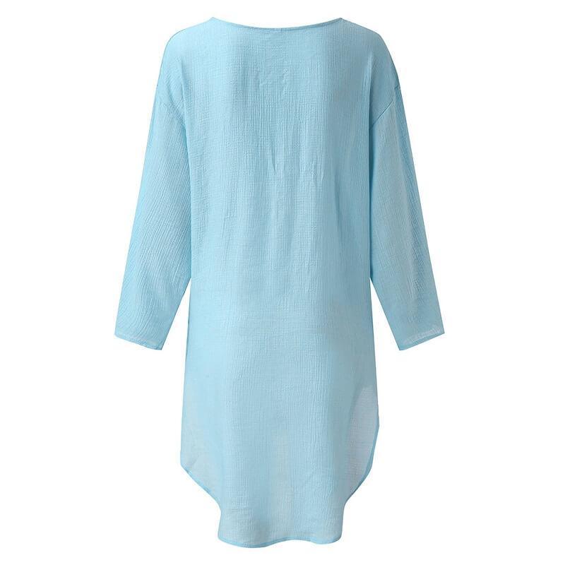 Plus Size Crop T Shirt - blue black