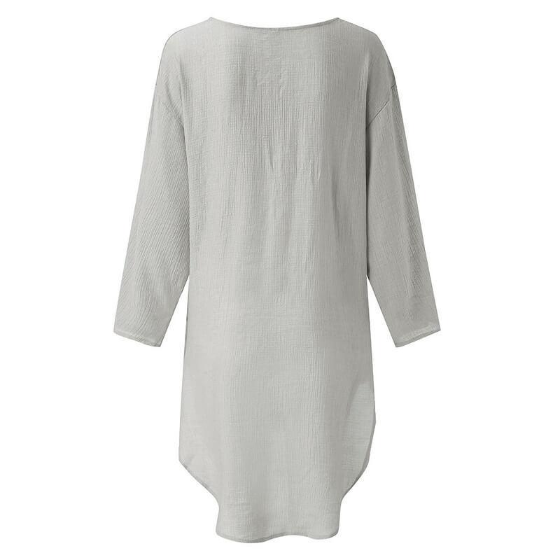 Plus Size Crop T Shirt - gray back