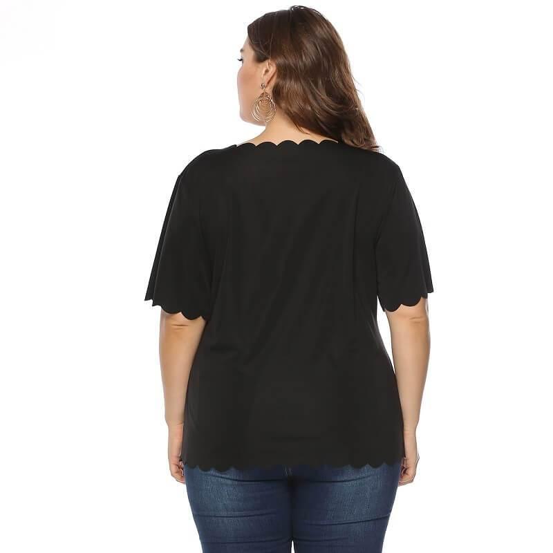 Plus Size Lips T Shirt - black back