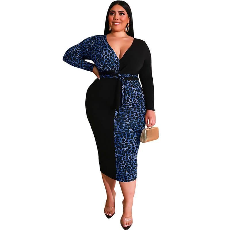 Plus Size Party Dresses -blue color