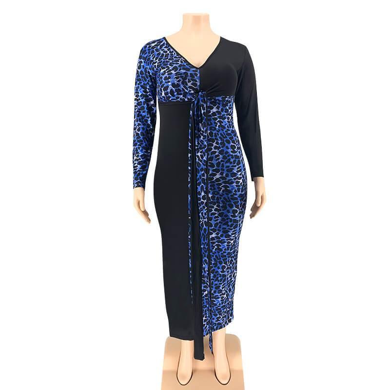 Plus Size Party Dresses -blue positive