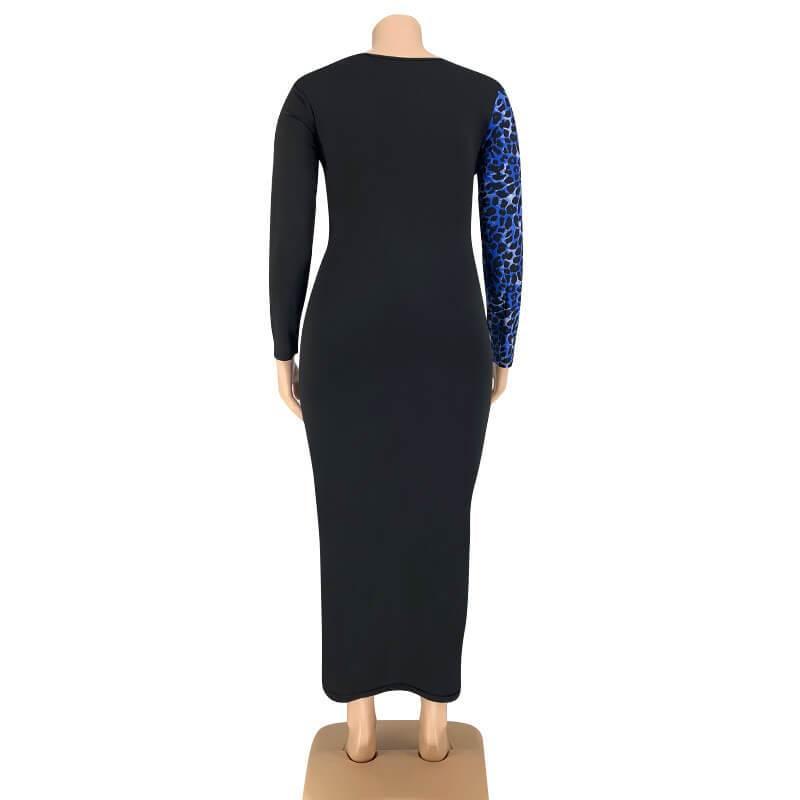 Plus Size Party Dresses -blue back