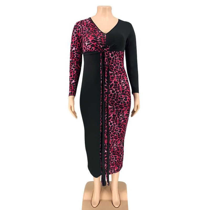 Plus Size Party Dresses - red positive