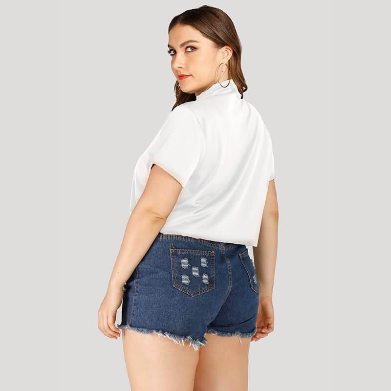 Plus Size Nike T Shirt -white side