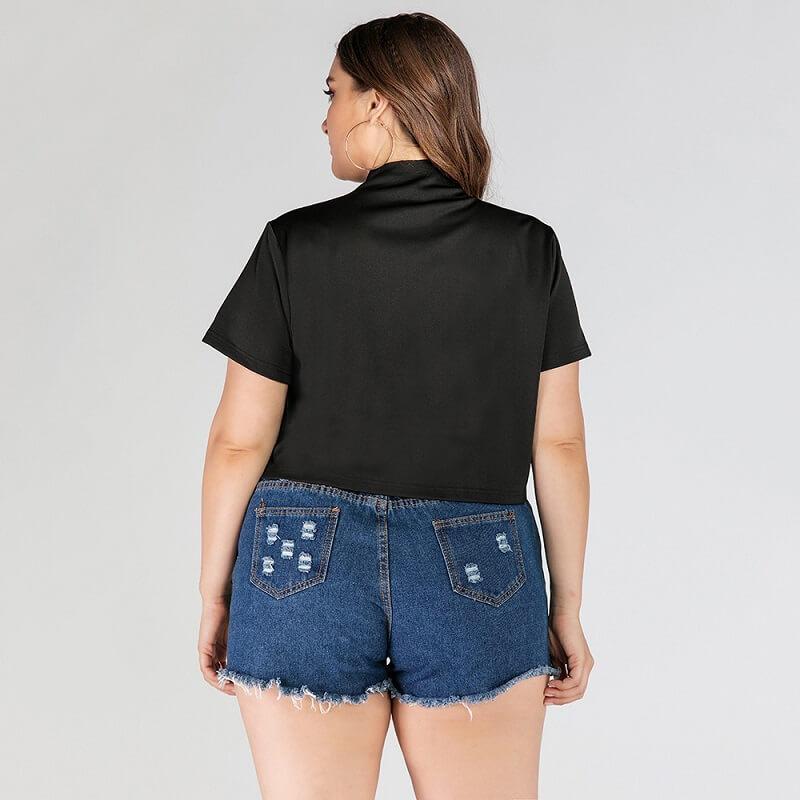 Plus Size Nike T Shirt - black back