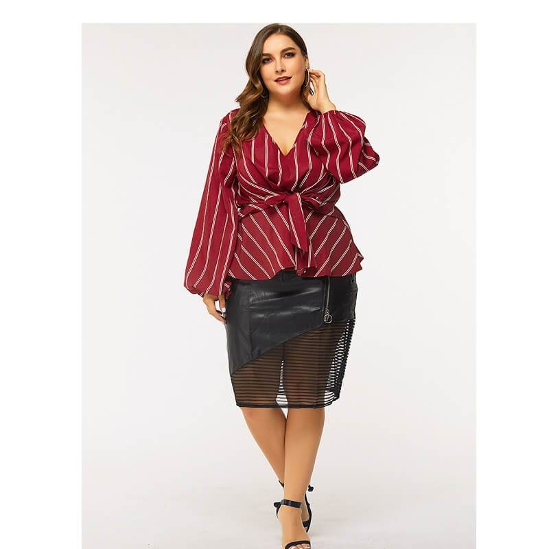 Red Shirt Plus Size - red positive
