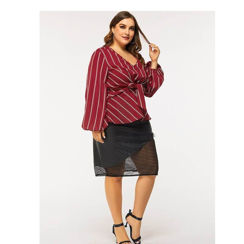 Red Shirt Plus Size - red whole body