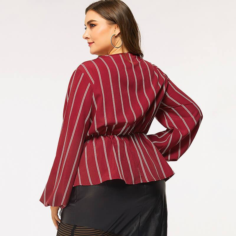 Red Shirt Plus Size - red back