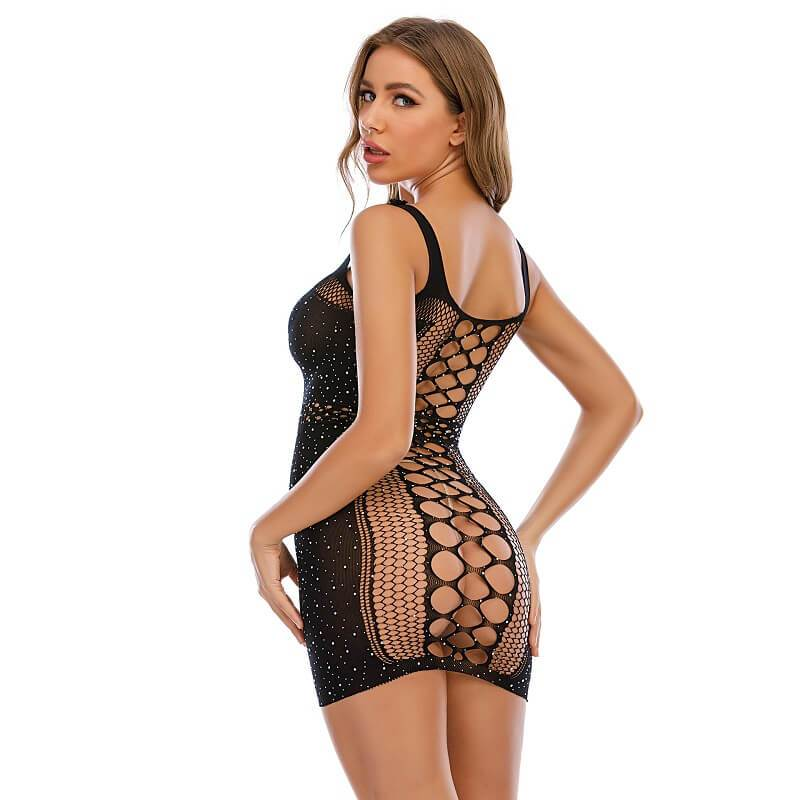 Sexy Lingerie Dress - Model Back View