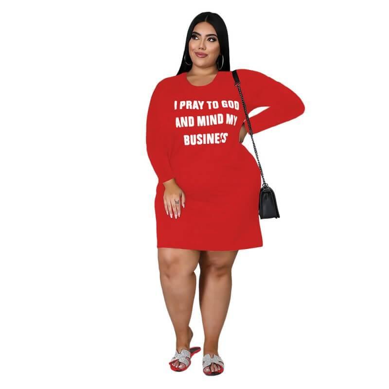 Elegant Plus Size Of The Bride Dresses - red color