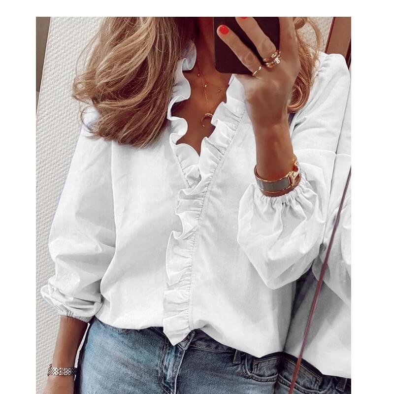 Plus Size Pineapple Shirt - white color