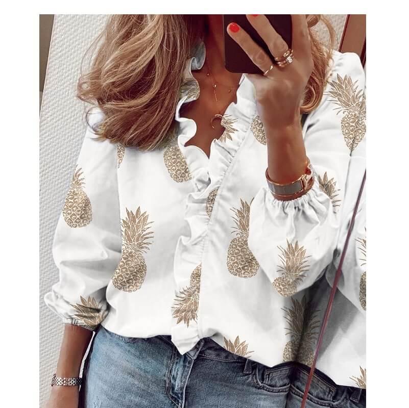 Plus Size Pineapple Shirt - pineapple  color