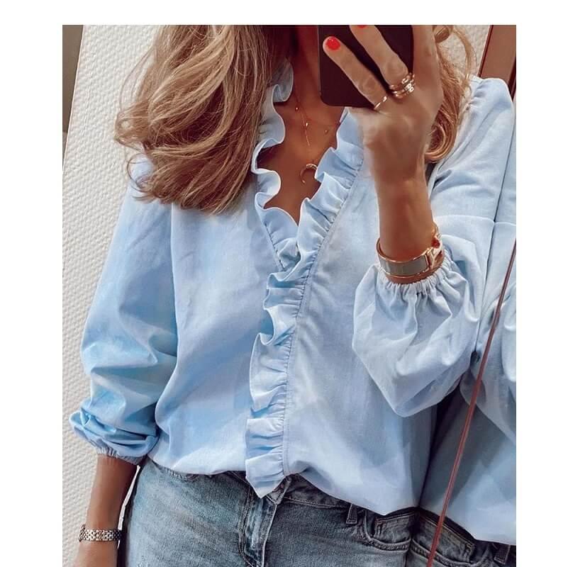 Plus Size Pineapple Shirt - light blue color