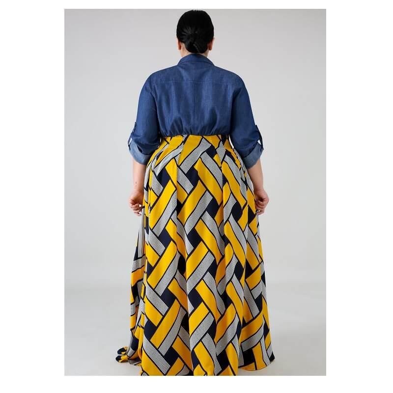 Plus Size Long Formal Dresses - yellow back