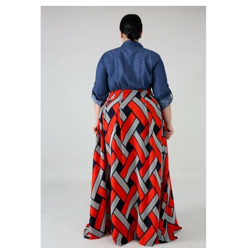 Plus Size Long Formal Dresses - red back