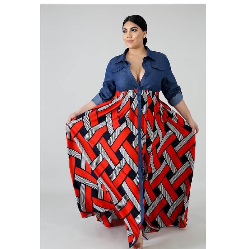Plus Size Long Formal Dresses - red color