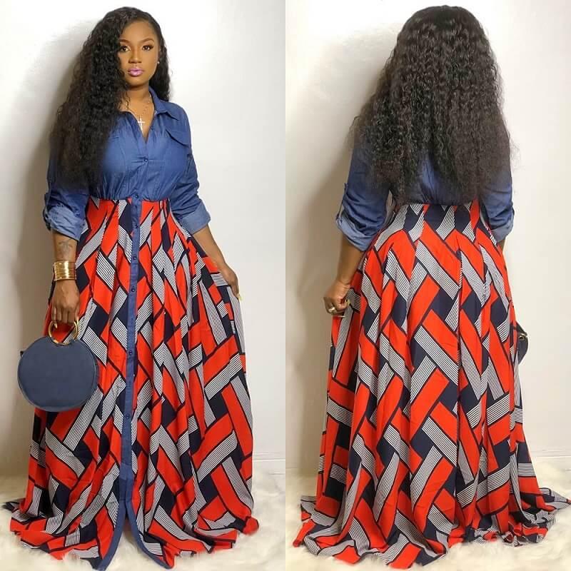 Plus Size Long Formal Dresses - red colors