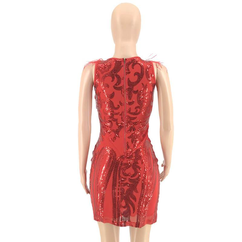 Red Dresses - red back