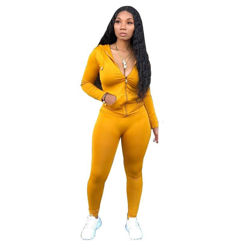 Red 2 Piece Outfit - yellow color