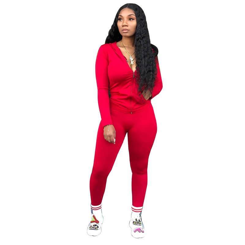Red 2 Piece Outfit - red color